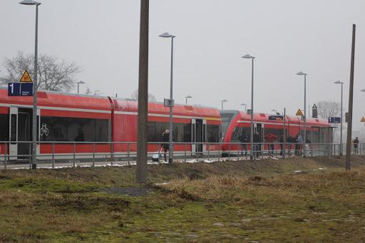 Tantower Bahnhof am Samstag den 04.02.2017 vormittags (Bild Archiv A.M.)