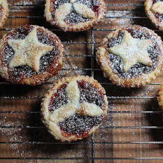 Cranberry Mince Pies With Star And Holly Toppings