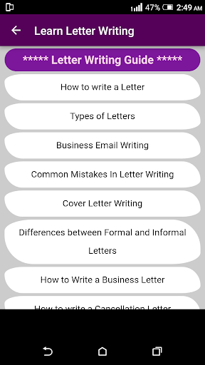 Learn English Letter Writing with 2000+ Examples ! 1.0 screenshots 4