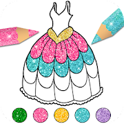 Dress Up & Girls Coloring Pages Glitter