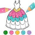 Dress Up & Girls Coloring Pages Glitter APK