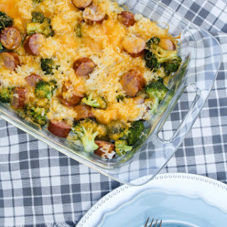 Cheesy Sausage, Broccoli and Rice Casserole
