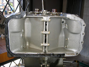Photo: Sump section of engine case halves is clean