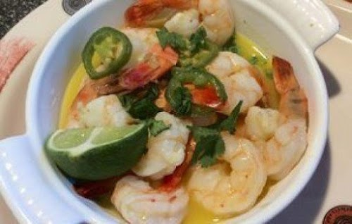 """Shrimp with Jalapeno, Tequila and Lime """"I first had this at a..."""