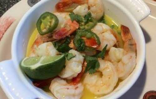 "Shrimp with Jalapeno, Tequila and Lime ""I first had this at a..."