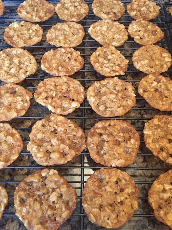 Oatmeal Thin Lace Cookies Recipe