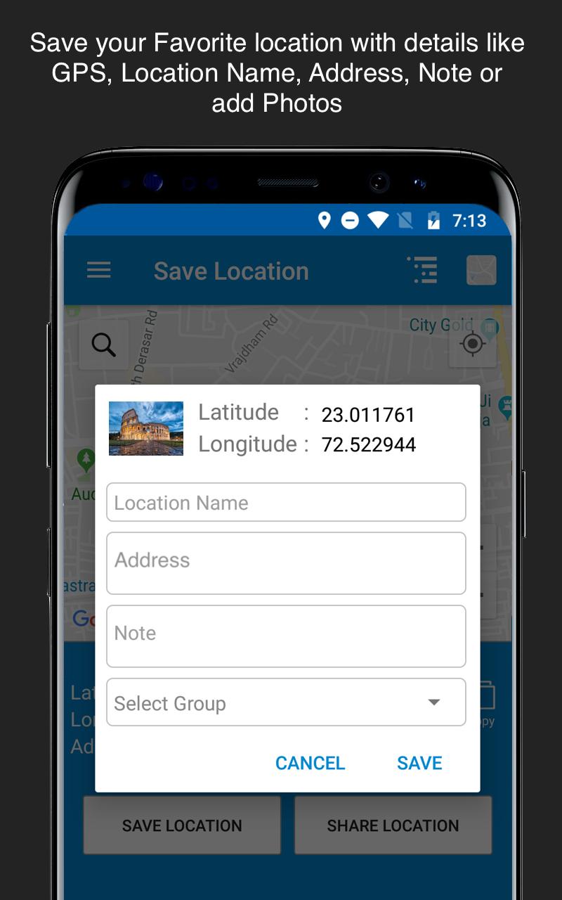 Save Location GPS Screenshot 1