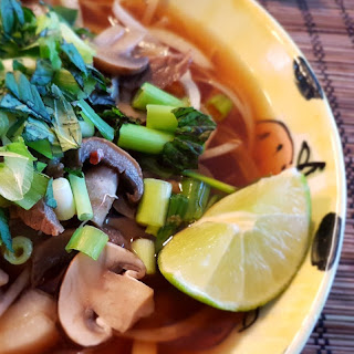 Vietnamese Pho Noodles with Beef and Mushrooms Recipe