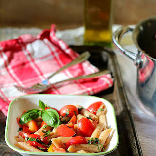 Whole Wheat Pasta with Fresh Tomatoes and Herbs.