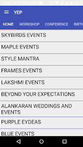 Your Event Planner screenshot 2