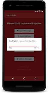 iSMS2droid - iPhone SMS Import- screenshot thumbnail
