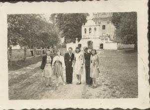 Photo: 5. Karol Suchorowski (3 z lewej strony) - przed kościołem.