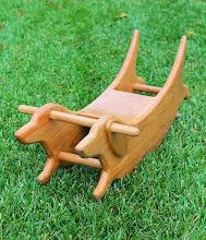 Photo: Cherry wood dachshund rocker