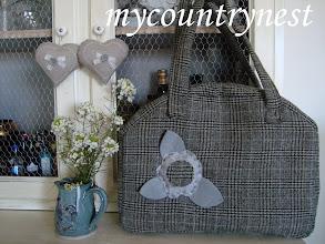 Photo: country bag in principe di galles di lana