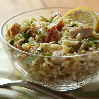Lemony Chicken and Orzo Salad