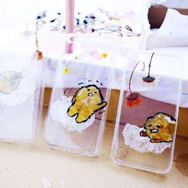 [訂製/custom-made] 蛋黃哥 Pressed Flower Phone Case