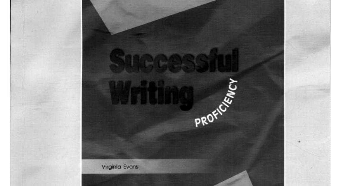 V Evans Successful Writing Proficiency Teacher S Book Pdf Google Drive