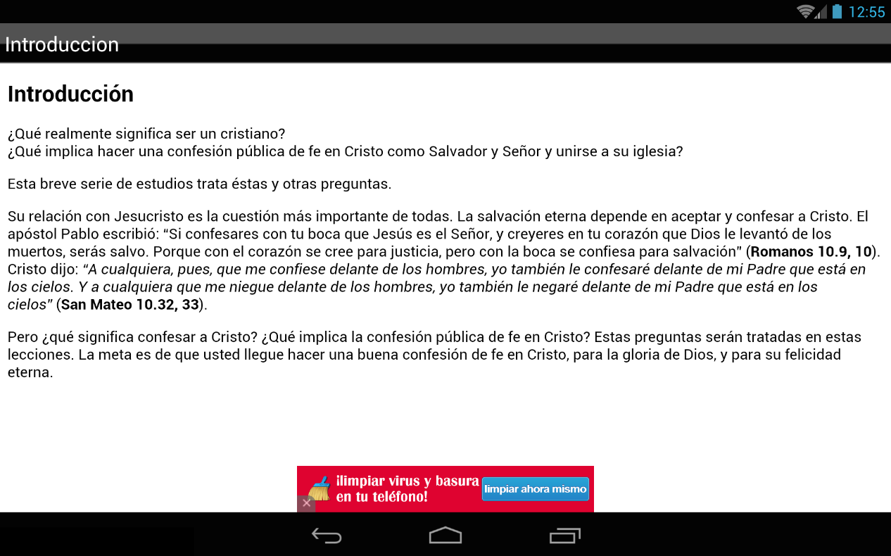 Confesar a Cristo 2.0- screenshot