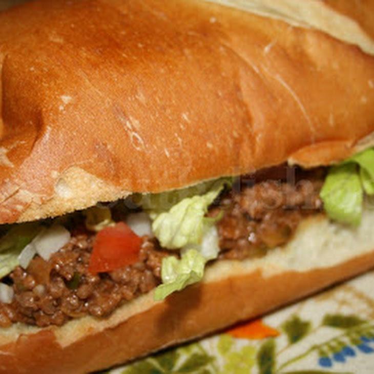 Loose Meat Hamburger Sandwich