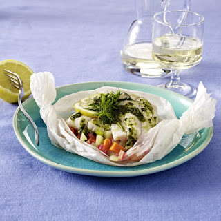 Pike and Vegetables Cooked in Parchment