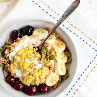 Mango Chia Jam & Sweet Cherry Breakfast Bowl Recipe