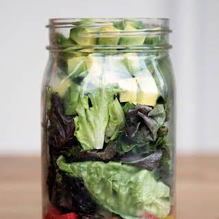 Guacamole Mason Jar Salad.