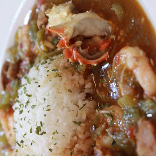 Seafood, Chicken, and Andouille Sausage Gumbo.