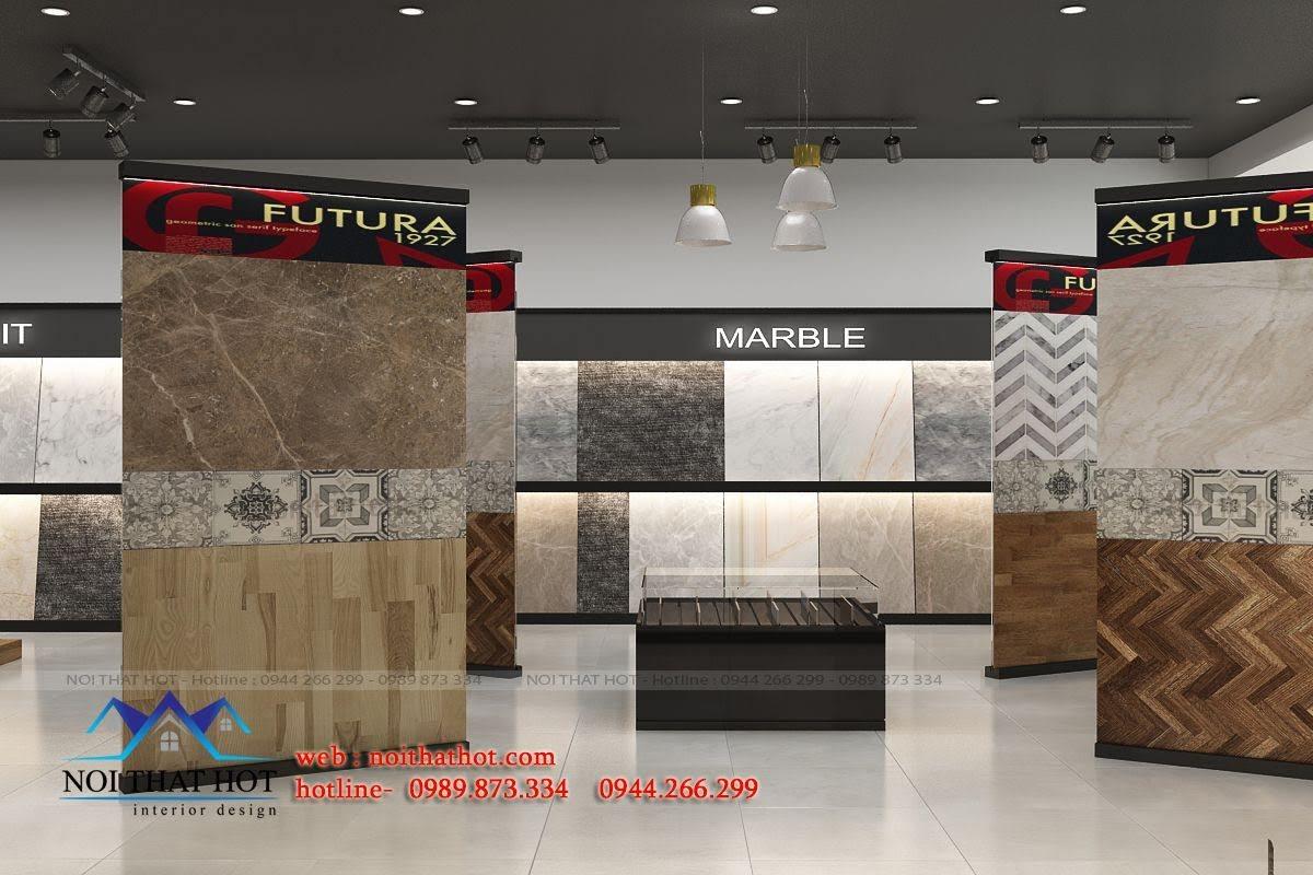 thiết kế cửa hàng vật liệu xây dựng ấn tượng