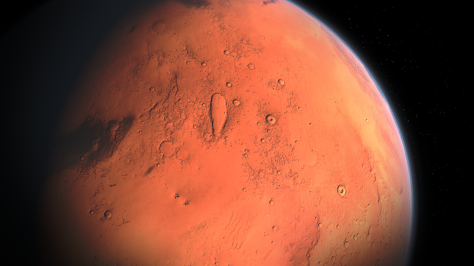 Mars, Land, Planet, Cosmos, Stars, Infinity