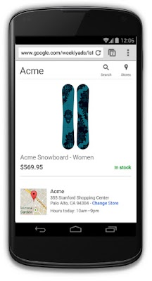 Shoppers are taken to a Google-hosted local storefront after clicking on a local inventory ad