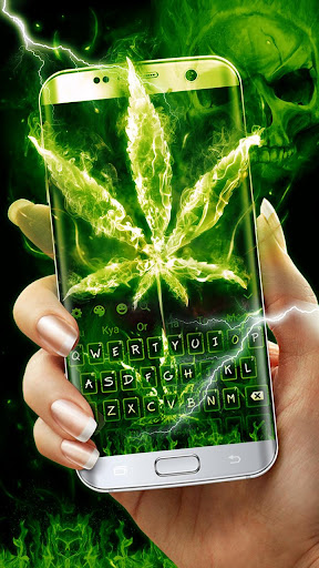 Weed Rasta Skull Fire Keyboard 10001003 screenshots 3
