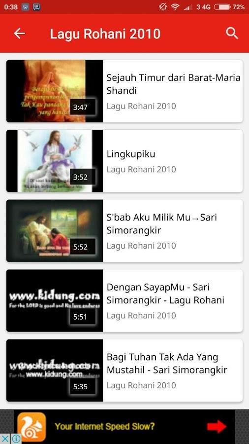 a collection of spiritual songs screenshot