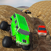 Big Monster Truck Rally Racing- 4x4 Up hill Climb