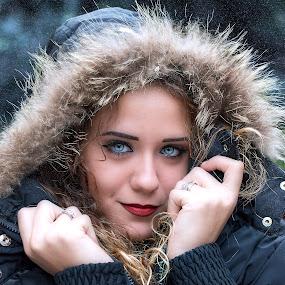 by Sandro Aliano - People Portraits of Women ( girl, snow,  )
