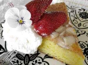 Almond Sponge Tea Cake Recipe
