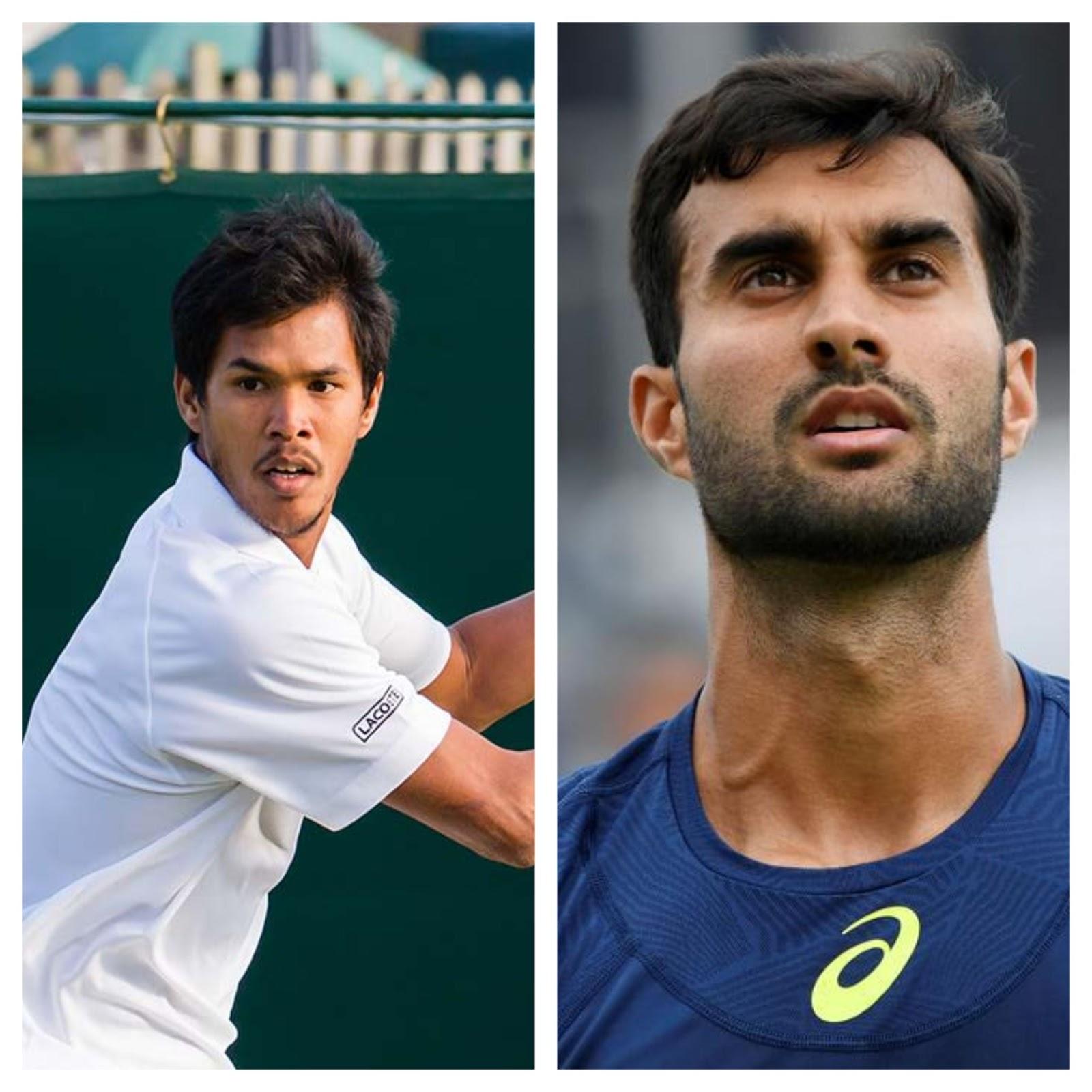 Indian tennis players Somdev Devvarman and Yuki Bhambri