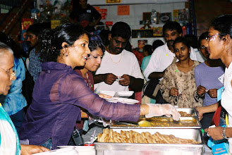 Photo: Prata were sold like Hotcakes!!! Here Mrs Meera, Mrs Yogesh and Ms Thana serving pratas.