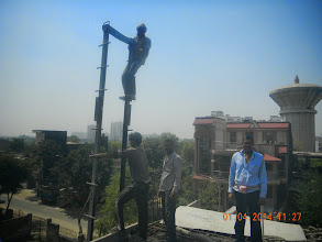 Photo: First floor roof casting ..