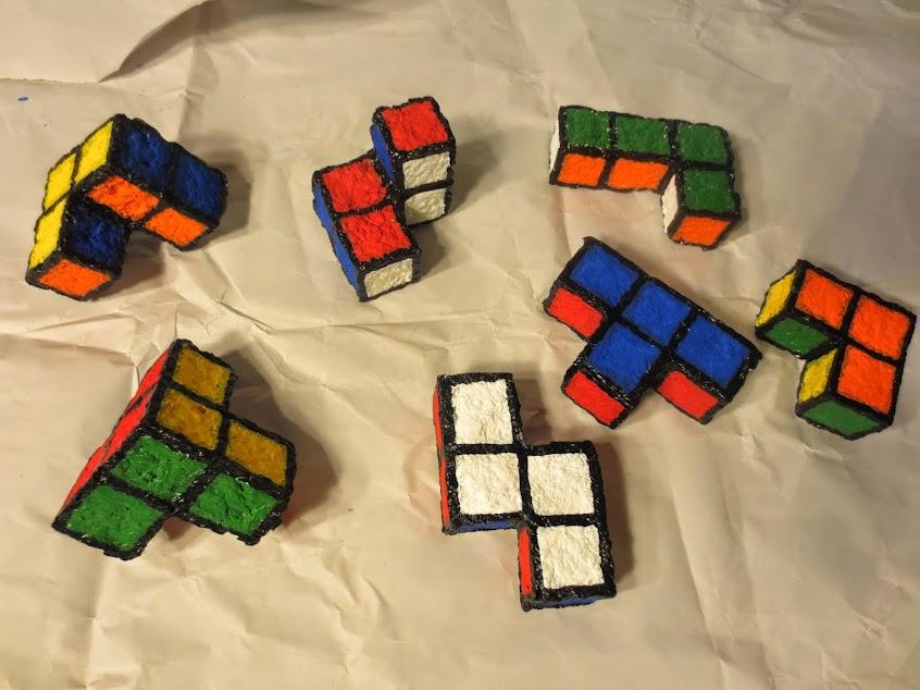 rubik colored soma cube