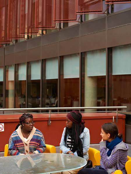 Photo: Balcony Seating area on the Cambridge Campus.