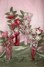 Photo: Long stemmed roses in vases