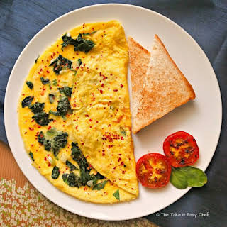 Spinach Omelette.