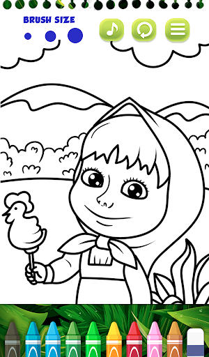 Masha Bear - Masha and The bear Coloring games 1.0 screenshots 4