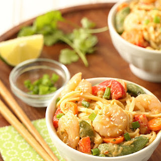 Sesame Shrimp Peanut Noodles