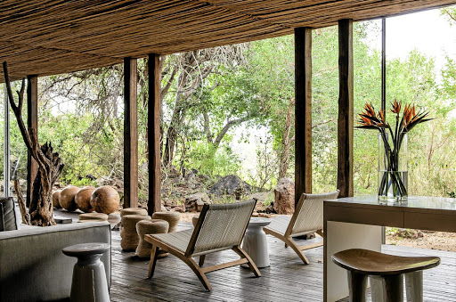The earthy African modernism of the suites at Sweni Lodge combines contrasting textures of wood, clay, fabric and metal. Picture: SUPPLIED