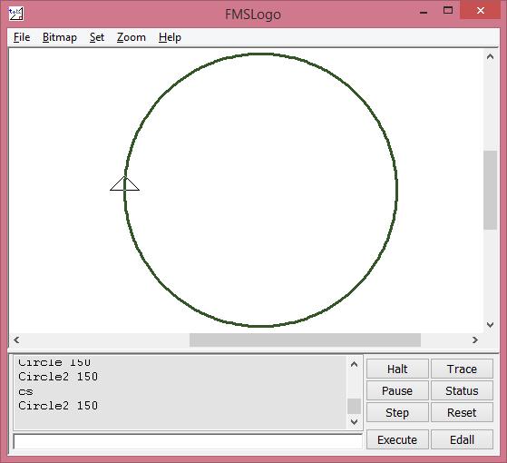 Circle2 r lệnh này rùa chạy theo đường tròn