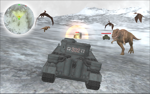 Dino World Tank Simulator Crazy world war 2 Battle - náhled