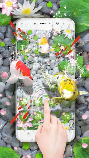 Lively Koi Fish 3D Theme screenshots 4
