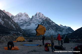 Photo: camp à Kambachen 4000 m