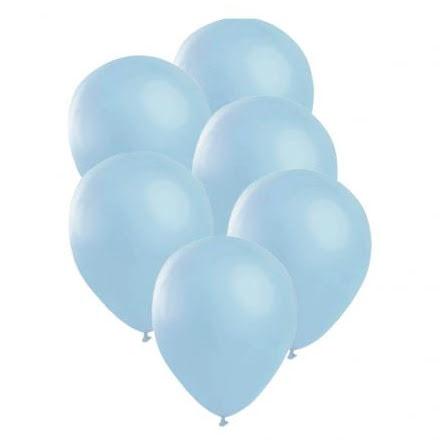 Ballonger, satin blå 6 st